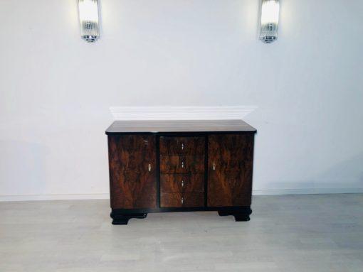 1930s Art Deco Walnut Burl Commode, Art Deco Furniture, France, Design, Interior Design, Luxury Furniture, Art Deco Design, Chest of Drawers