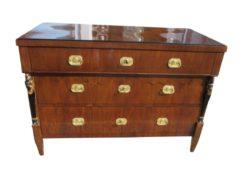 Biedermeier Walnut Wood Commode from circa 1830, Original Biedermeier, Biedermeier Chest of Drawers, Antique Commode, Furniture from Vienna