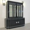 High Gloss Black Art Deco Vitrine Cabinet3