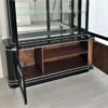 High Gloss Black Art Deco Vitrine Cabinet 5