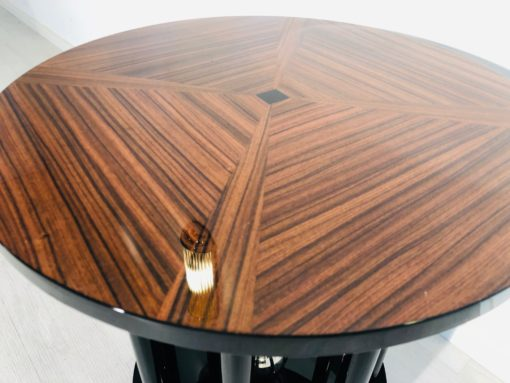 Art Deco End Table Column Design and Cherry Top, Art Deco Side Table, Interior Design, High End Side table, luxury furniture, design furniture