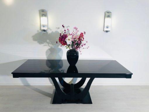 High Gloss Black Art Deco Dining Table, Design Dining Table, Black Furniture, Interior Design, Antique Dining Tables, Art Deco Furniture