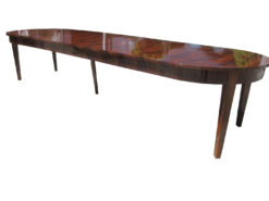 Large Biedermeier Style Dining Table or Conference Table Walnut Wood Veneered, Original Biedermeier Table, Antique Dining Table
