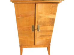1920s Gramophone Vinyl Cabinet Beechwood, Original Art Deco, Art Deco Cabinet, Antique Gramophone Cabinet, Art Deco Gramophone