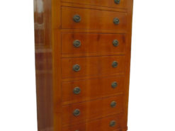 Cherry Wood Biedermeier Style Chiffoniere or Chest of Drawers, Original Biedermeier Furniture, Biedermeier Commode, Antiique Commode