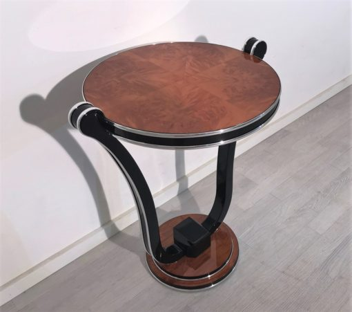 Honey Maple Art Deco Style Side Table, Art Deco Design, replica Furniture, Art Deco reproduction, high end furniture, interior design