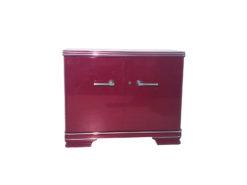 Original Art Deco Commode with a High Gloss Red Finish, Design Furniture, Art Deco Furniture, high gloss furniture, colorful commodes