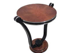 Honey Maple Art Deco Style Side Table, Art Deco Design, replica Furniture, Art Deco reproduction, high end furniture, interior design