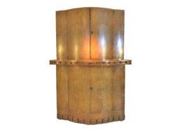 1920s British Art Deco Bar Cabinet made of Light Walnut, Art Deco Bar Furniture, Design Furniture, Dry bars, cabinets, drink cabinet