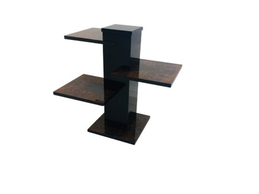 Rare Art Deco Walnut Pillar Side Table, High End Furniture, Design Furniture, Interior Design, Walnut Side Table, Art Deco furniture