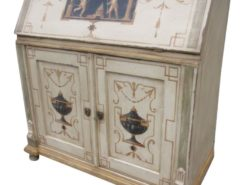 Grunderzeit Secretary or Bureau with Hand-painted Ornaments, Original Grunderzeit Furniture, Antique Secretary, Antique Bureau