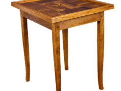 Biedermeier Game Table or Side Table made of Oakwood with Inlay Works, Antique Game Table, Antique Side Table, Original Biedermeier