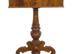 Side Table or Sewing Table made of Massive Cherry Wood around 1870, Original Biedermeier, Biedermeier Furniture, Antique Sewing Table