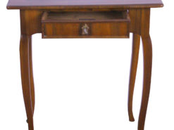 Biedermeier Side Table made of Walnut Wood from Germany, Original Biedermeier, Biedermeier Furniture, Antique Side Table, Shellac