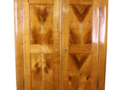 1860s Biedermeier Cabinet made of Cherry Wood, Original Biedermeier, Antique Biedermeier, Antique Cabinet, Biedermeier Wardrobe