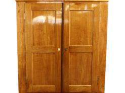 Hall Cabinet or Amoire of the Biedermeier Era made of Cherry Wood, Antique Hall Cabinet, Antique Amoire, Original Biedermeier
