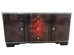 Dark Walnut Art Deco Commode with Stunning Grain, 1920s Commode, Art Deco Furniture, Art Deco Commodes, Art Deco Design, Walnut Wood, French Furniture