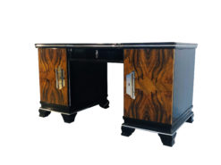 1920s Art Deco Desk Walnut Wood Front, Luxury Furniture, Design Furniture, Restoration, Interior Design, Luxury items, Antique Desks