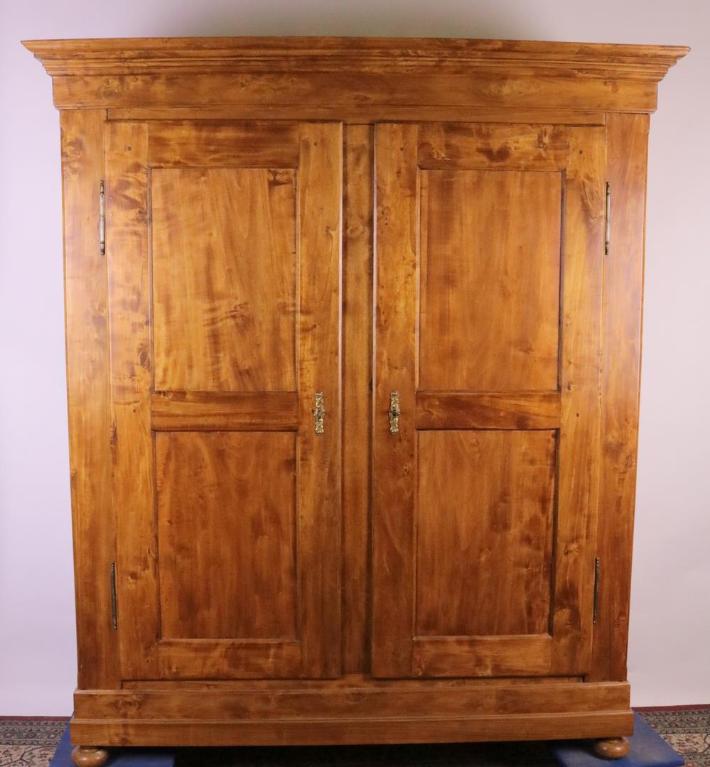 Biedermeier Poplar Wood Cabinet Around 1870 With Cherry Wood Stain