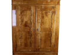 Cherry Wood Biedermeier Cabinet around 1860; Antique Amoire, Antique Cabinet, Biedermeier Furniture, Original Biedermeier