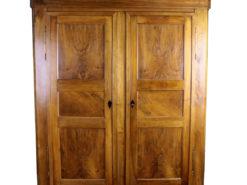 Original Biedermeier Wardrobe made of Walnut Wood, Biedermeier Furniture, Biedermeier Amoire, Antique Wardrobe, Bee Wax, Antique Cabinet