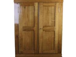 Amoire of the Biedermeier Era made of Cherry Wood around 1870, Original Biedermeier, Antique Cabinet, Biedermeier Cabinet