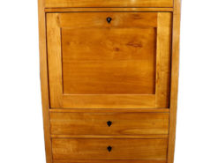Stunning Biedermeier Secretary around 1840 made of Cherry Wood, Original Biedermeier, Ebonized Wood, Antique Desk, Antique Secretary