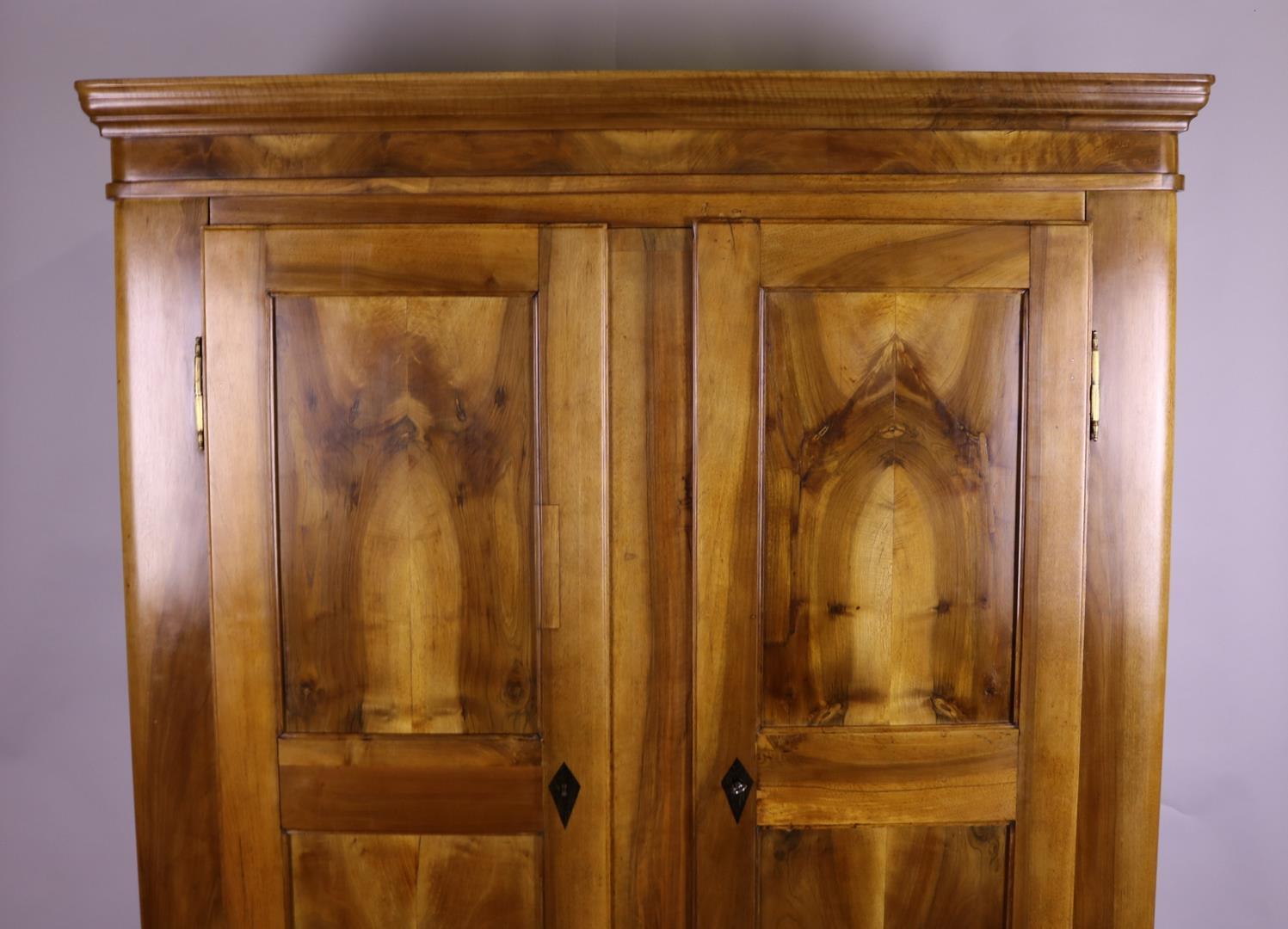 Walnut Wood Beidermeier Wardrobe Around 1850 Original Antique