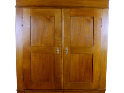 Biedermeier Era Oak Wardrobe around 1840, Original Biedermeier, Biedemeier Furniture, Antique Wardrobe, Antique Cabinet, Antique Wax
