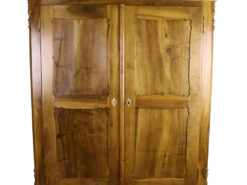 Biedermeier Cabinet with Carved Panel Doors made of Walnut around 1870, Original Biedermeier, Biedermeier Furniture, Antique Cabinet