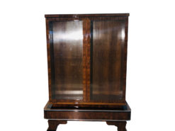 1930s Art Deco Walnut Vitrine Cabinet, Art deco Furniture for Sale, Art Deco Furniture Dealer, Luxury Furniture, Antiques for Sale, France 1930s, Design Furniture