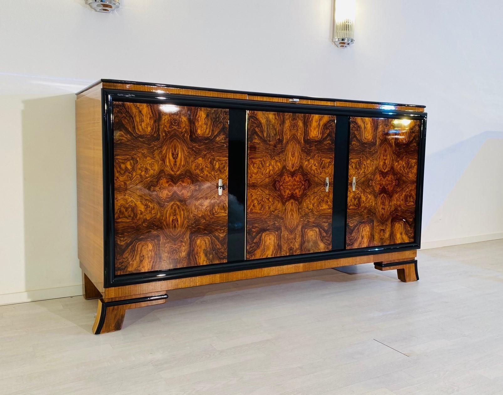 Walnut Sideboard From The Art Deco Era