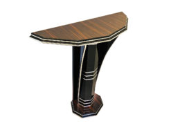 Modern Art Deco Style Console Table with Macassar Wood, Luxury furniture, art deco style furniture for sale, design furniture, macassar furniture