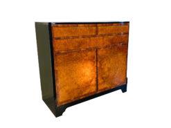 1930s Art Deco Dresser made of Walnut Burlwood, Art Deco Furniture, Storage, design furniture, antique burl wood commode, sideboards, antique storage