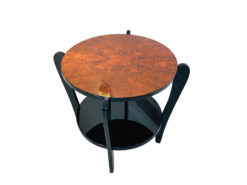 Art Deco Side Table Coffe Table Burl Wood, antique side tables, luxury art deco furniture, art deco for sale, burl wood table
