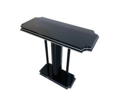 High-Gloss Black Console Table with an Art Deco Design, Art Deco Tables, Art Deco style furniture for sale, luxury furniture on sale, high gloss black