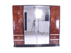 Art Deco Palisander Wood Wardrobe Mirror Cabinet 1920s, Antique wardrobe, cabinet, luxury furniture, interior design, art deco furniture