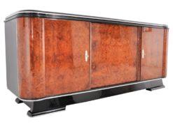 1920s Amboina Wood Art Deco Sideboard or Buffet, Luxury Antiques, Art Deco furniture, high gloss furniture, amboina furniture, design antiques