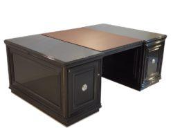 XXL Art Deco Partner Desk Piano Lacquer 1940s, Art Deco Desk, high Gloss Desk, Design Desk, Art Deco Furniture, CEO Desk, Luxury Furniture