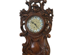 Antique Longcase Clock With Lavish Wood Carvings