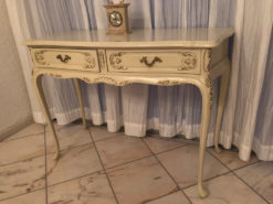 White Antique Side-Table Made in English Style