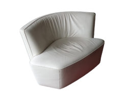 White Designer Relax Leather Chair