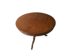 Round Antique Coffetable Made Of Solid Walnut