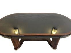 Oval Art Deco Dining Table Macassar Wood, Luxury Dining Table, Interior Design, Art Deco Table, High Gloss Dining Table, Antique Dining Table