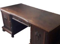 Antique Oak Wood Desk