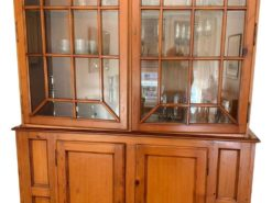 Wood Vitrine With Glass Front