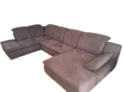 large modern brown sofa