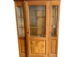 Cherry Wood and Birch Wood Display Cabinet