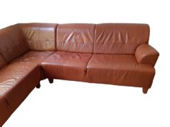 Red Buffalo Leather Sofa Suite