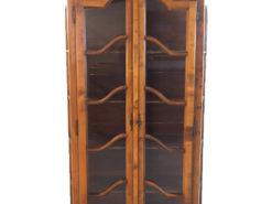 Antique Wood Display Cabinet